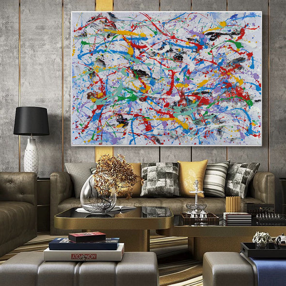 Abstract wall | Abstract painting for beginners LA69_2