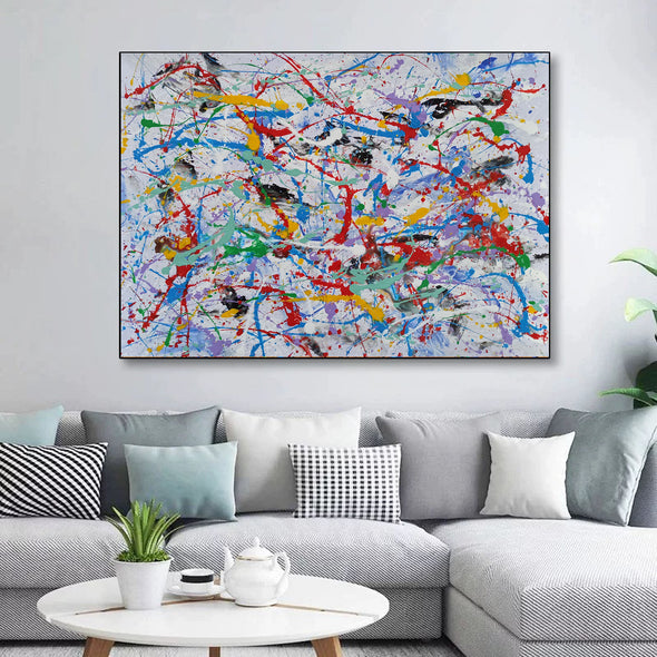 Abstract wall | Abstract painting for beginners LA69_7