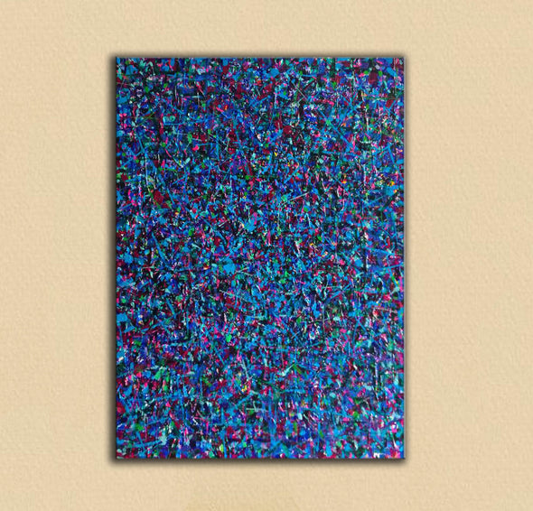 LargeArtCanvas-blue red abstract painting L733-2