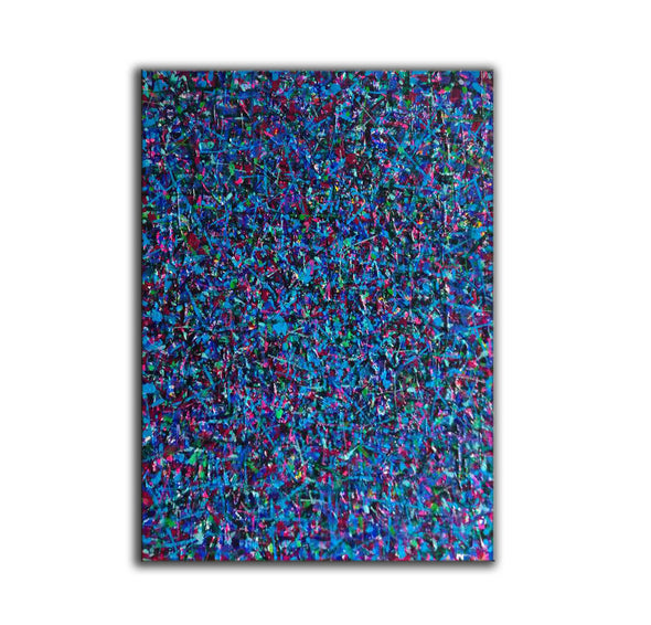 LargeArtCanvas-blue red abstract painting L733-4