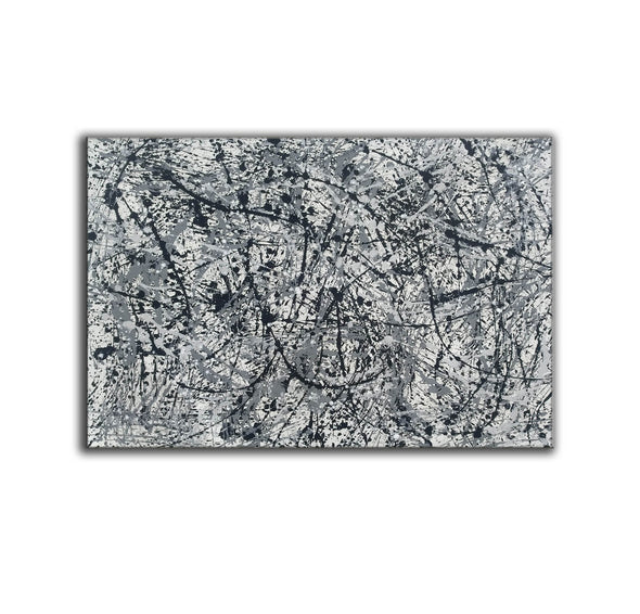 splatter painting canvas | Original drip L765-3