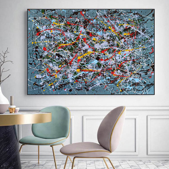 Contemporary abstract painting | Abstract impressionism artists LA38_1