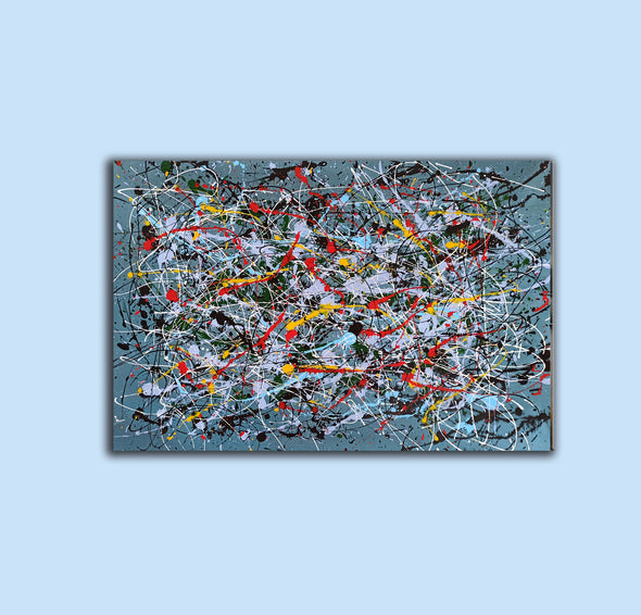 Contemporary abstract painting | Abstract impressionism artists LA38_5
