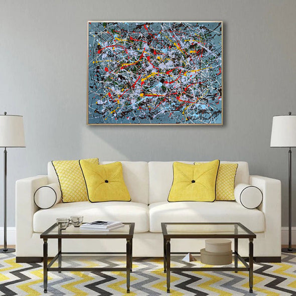 Contemporary abstract painting | Abstract impressionism artists LA38_8