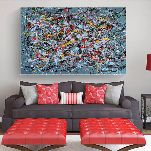 Contemporary abstract painting | Abstract impressionism artists LA38_10