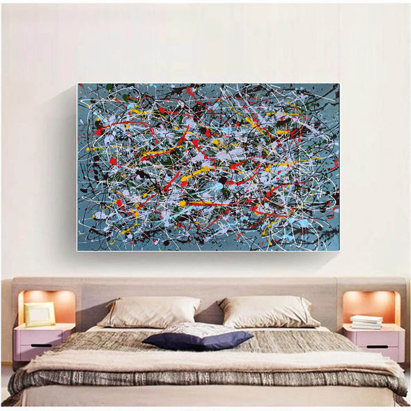 Contemporary abstract painting | Abstract impressionism artists LA38_11