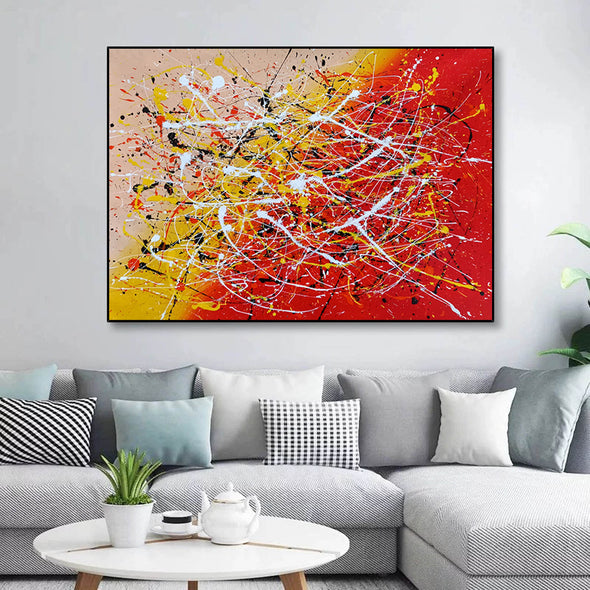 Contemporary art abstract paintings | Paint abstract oil paintings LA263_1
