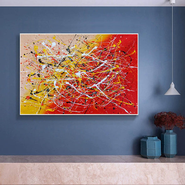 Contemporary art abstract paintings | Paint abstract oil paintings LA263_3