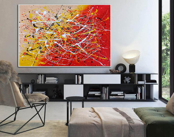 Contemporary art abstract paintings | Paint abstract oil paintings LA263_6
