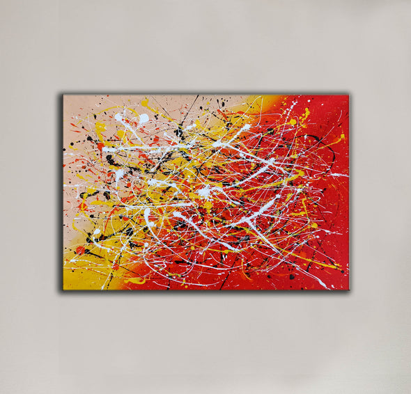 Contemporary art abstract paintings | Paint abstract oil paintings LA263_9