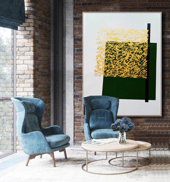 Contemporary canvas painting | Colorful abstract paintings on canvas LA140_2