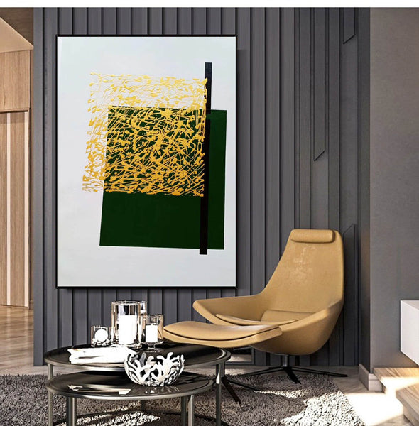 Contemporary canvas painting | Colorful abstract paintings on canvas LA140_4