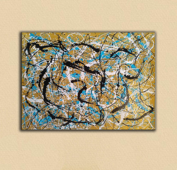 Painter the dripper | splatter painting abstract paintings L942-4