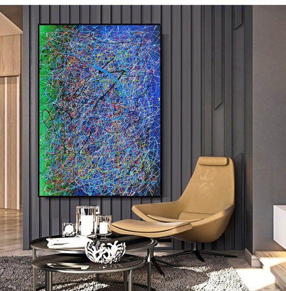 Drip art canvas | Dripping artwork LA115_1