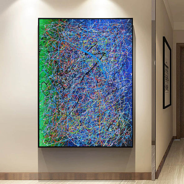 Drip art canvas | Dripping artwork LA115_8