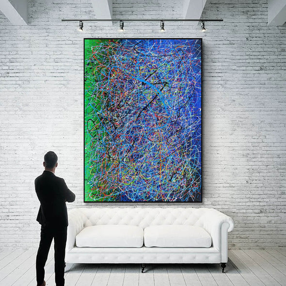 Drip art canvas | Dripping artwork LA115_10