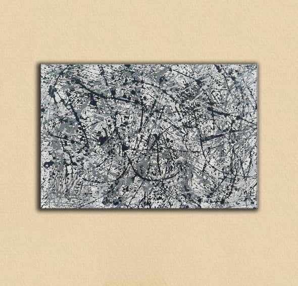 splatter painting canvas | Original drip L765-4