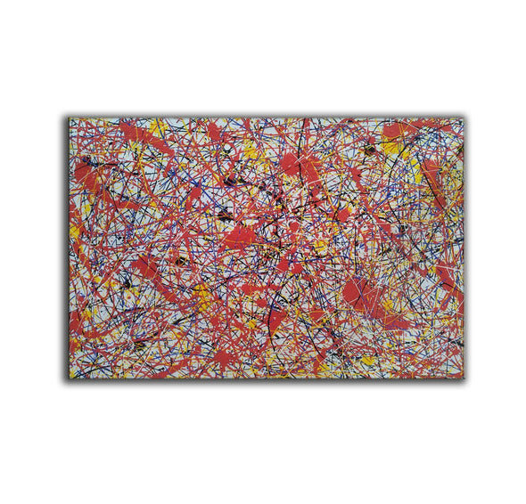 Paint like splatter painting | Drip paint canvas L911-3