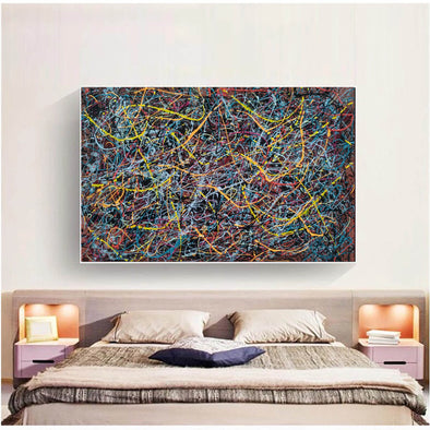 drip famous paintings | A splatter painting painting L912-1