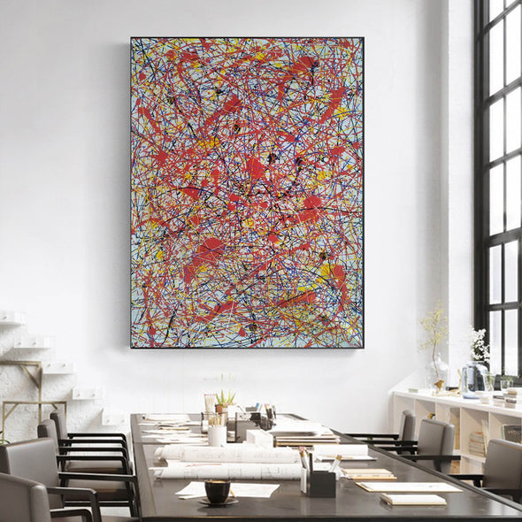 splatter painting portrait | Canvas splatter painting L927-1