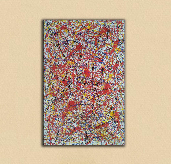 splatter painting portrait | Canvas splatter painting L927-2