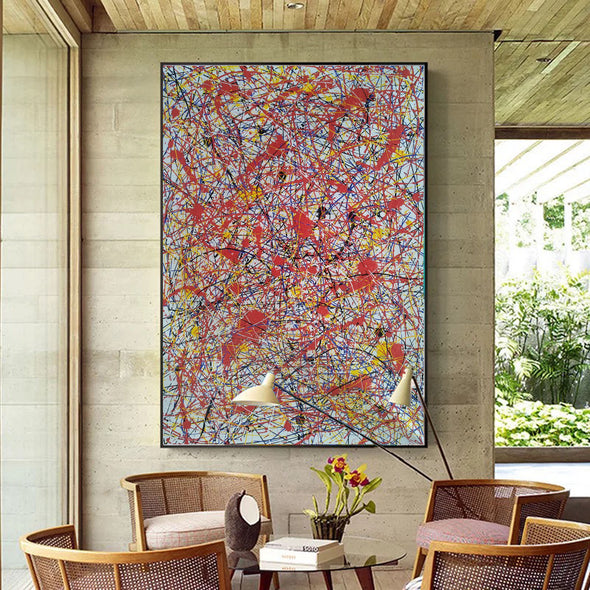 splatter painting portrait | Canvas splatter painting L927-3