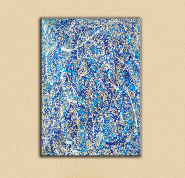 Pollock splatter paint | Pouring paint on canvas L924-5
