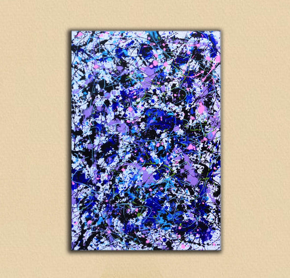 splatter painting convergence canvas | splatter painting early work L917-3