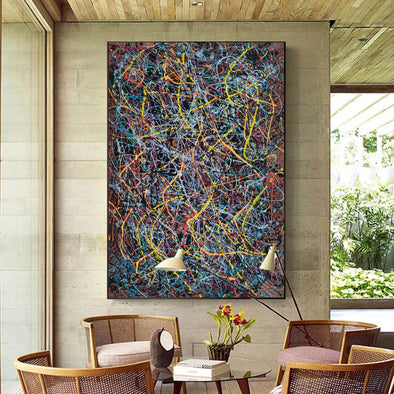 Abstract splatter art | large artist L928-1