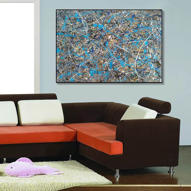 splatter painting gallery | splatter painting reproduction L941-1