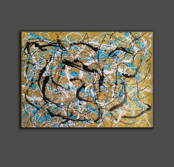 Painter the dripper | splatter painting abstract paintings L942-3