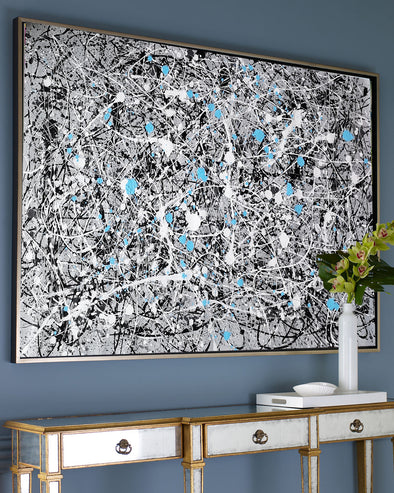 jackson pollock extra large wall art, abstract acrylic painting L642