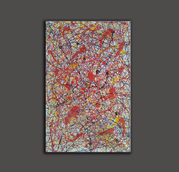 splatter painting portrait | Canvas splatter painting L927-5