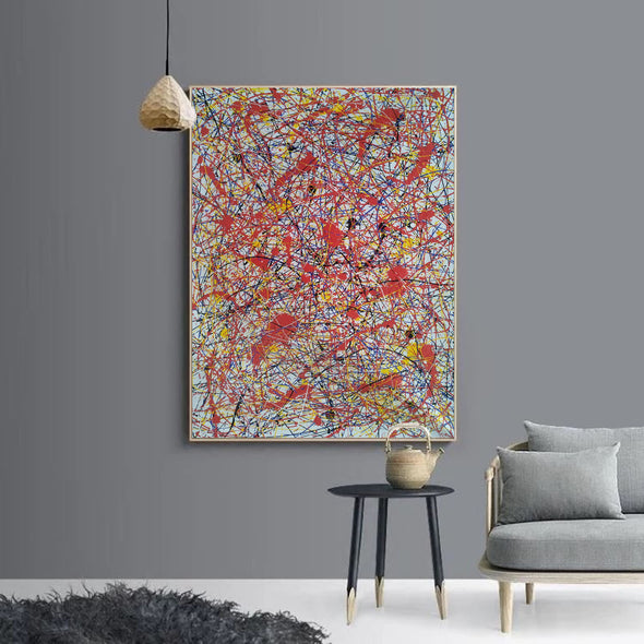 splatter painting portrait | Canvas splatter painting L927-6
