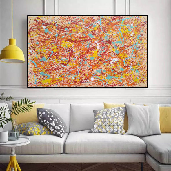 Original drip painting | splatter painting painting style L874-8