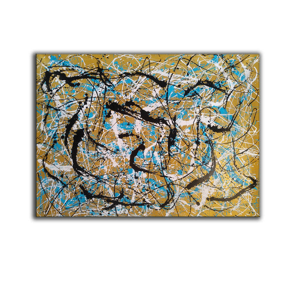 Painter the dripper | splatter painting abstract paintings L942-6
