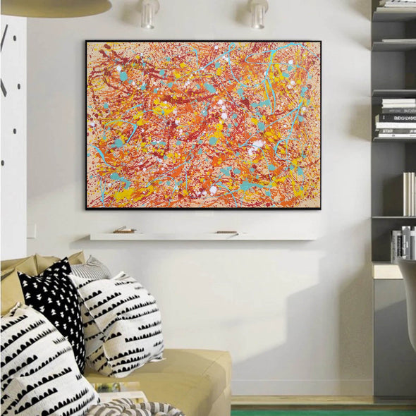 Original drip painting | splatter painting painting style L874-9