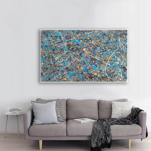 splatter painting gallery | splatter painting reproduction L941-6