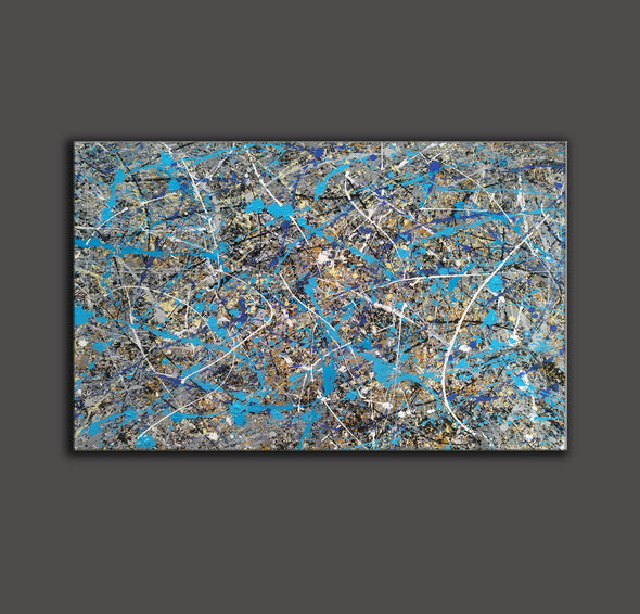splatter painting gallery | splatter painting reproduction L941-7