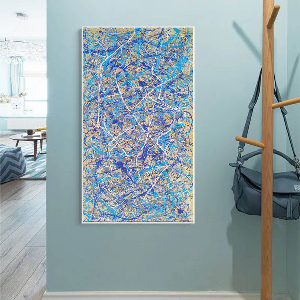 Dripping paint on canvas artist | splatter painting art movement L940-8