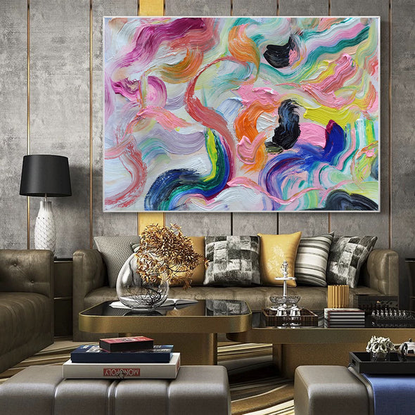 Large abstract canvas wall art | Contemporary abstract paintings LA71_2