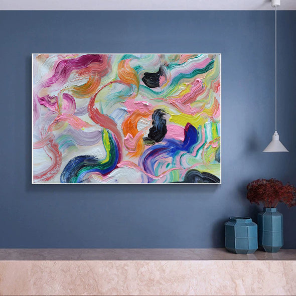 Large abstract canvas wall art | Contemporary abstract paintings LA71_4