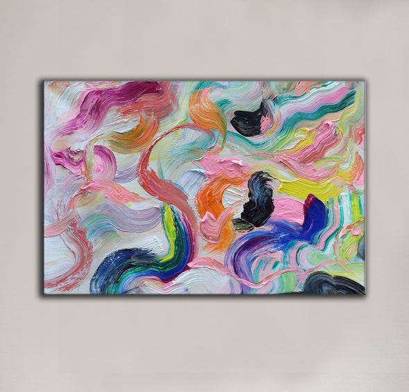 Large abstract canvas wall art | Abstract paintings LA71