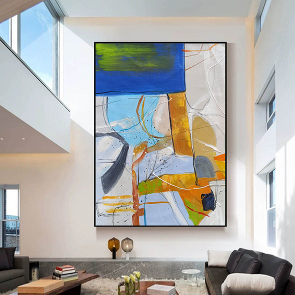 Large abstract painting | Modern contemporary art LA154_1