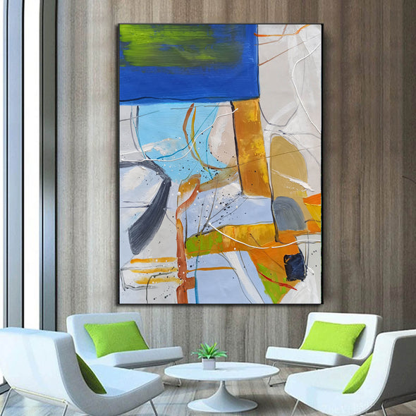 Large abstract painting | Modern contemporary art LA154_2