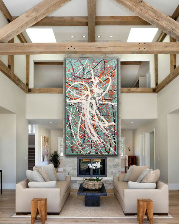 Large oil painting | Large abstract art LA297_3