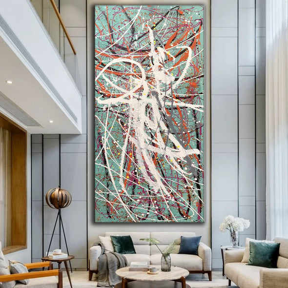 Large oil painting | Large abstract art LA297_5