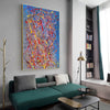 Abstract acrylic painting on canvas | Modern and contemporary art LA129_1