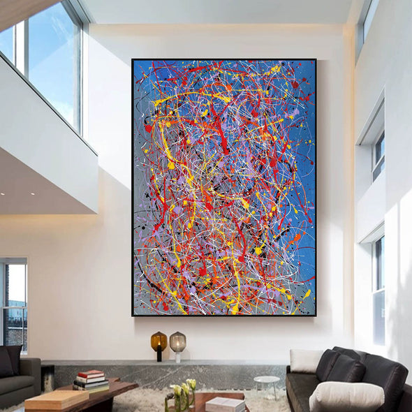 Abstract acrylic painting on canvas | Modern and contemporary art LA129_2