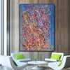 Abstract acrylic painting on canvas | Modern and contemporary art LA129_5